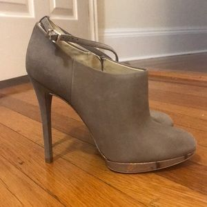 Brian Atwood Gray Fruitera Booties